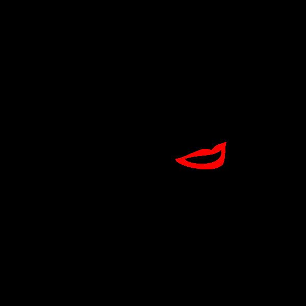 Female Line Art Sketch