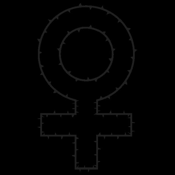Female Symbol Of Thorns