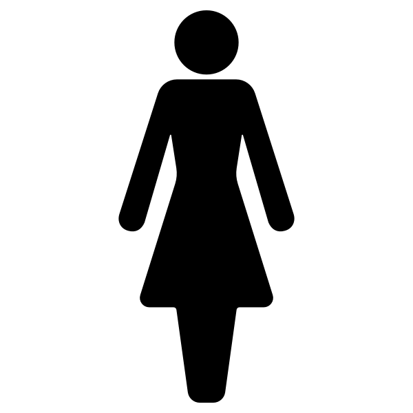Female symbol silhouette