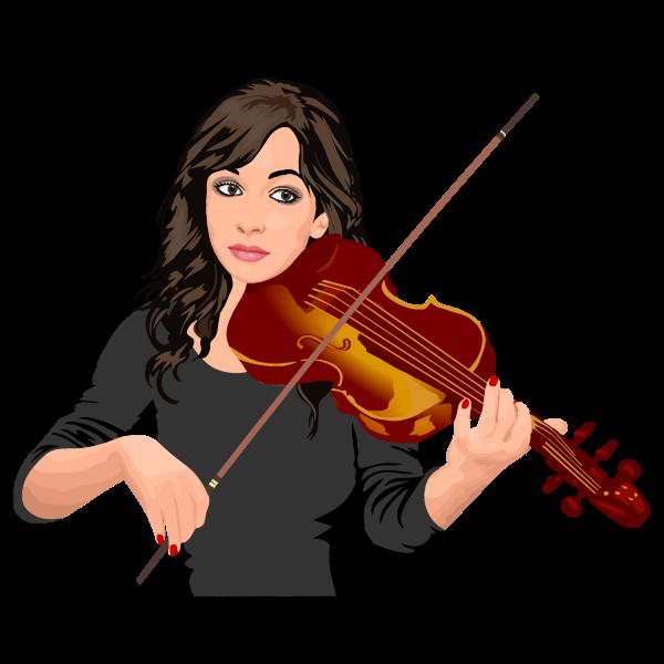 Female violinist portrait