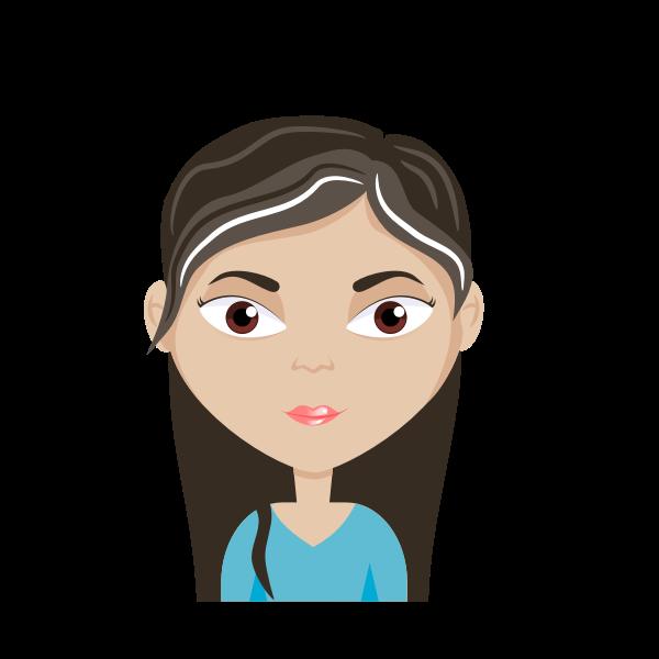 Female cartoon avatar