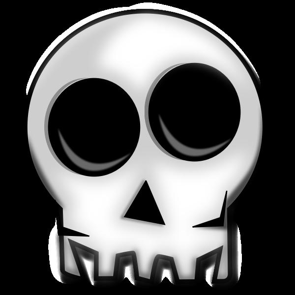 Top half of human skull vector image