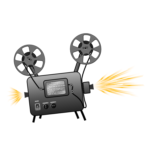 Film projector vector drawing