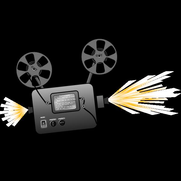 Film projector vector drawing
