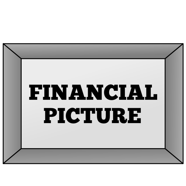 Financial picture metaphor sign vector image