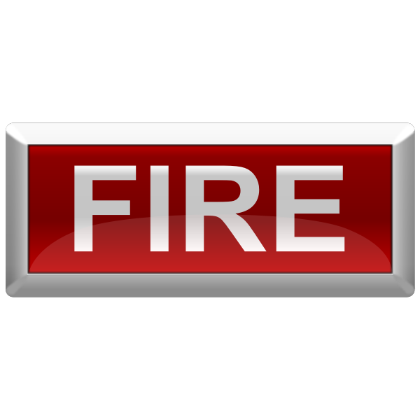 Vector image of fire alarm optical sign