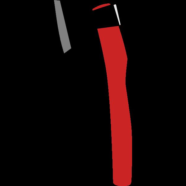 Vector clip art of break glass with fire axe
