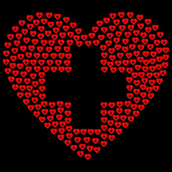First Aid Heart Fractal