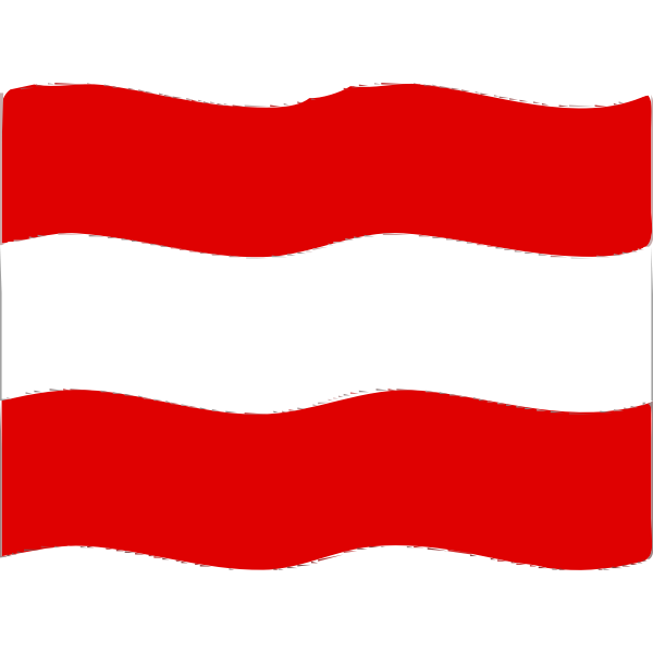 Flag of Austria wave effect