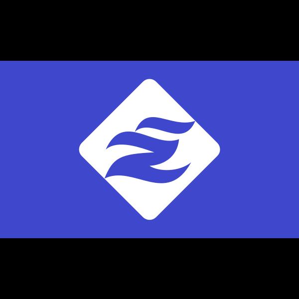 Flag of Esashi Soya Hokkaido blue version