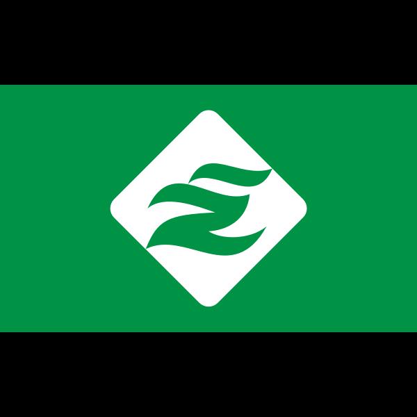 Flag of Esashi Soya Hokkaido green version