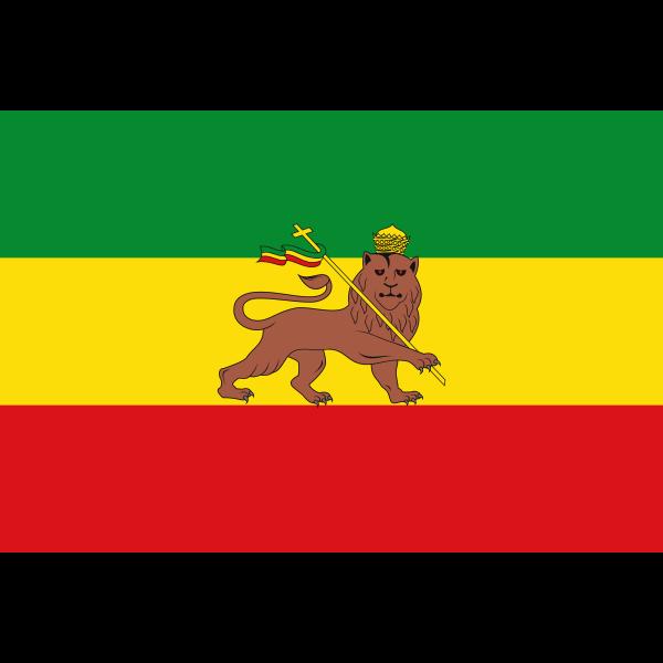 Old flag of Ethiopia vector illustration