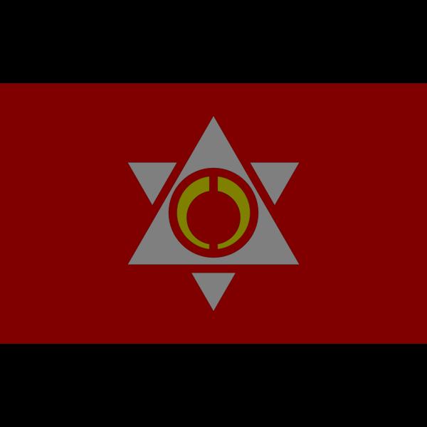 Flag of Monbetsu town Hokkaido