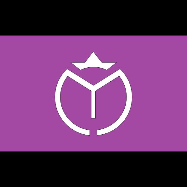 Flag of Myogi Gunma