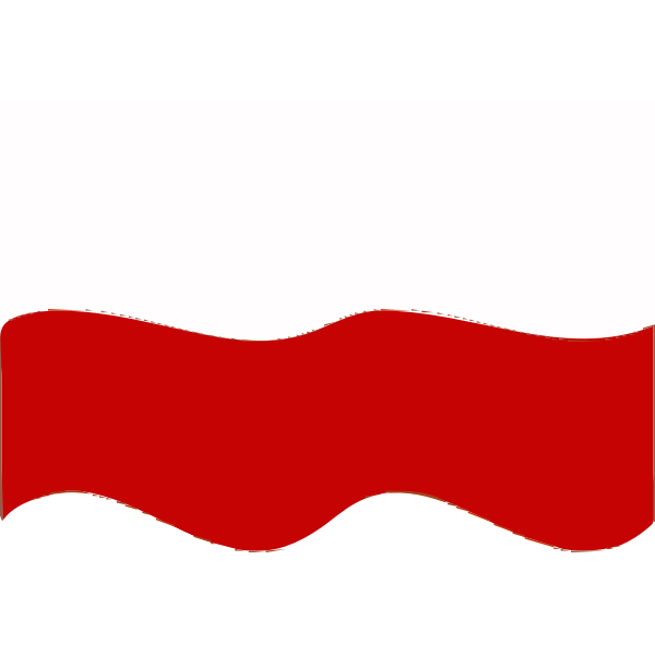 Flag of Poland wave effect