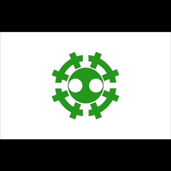 Flag of former Esashi Soya Hokkaido