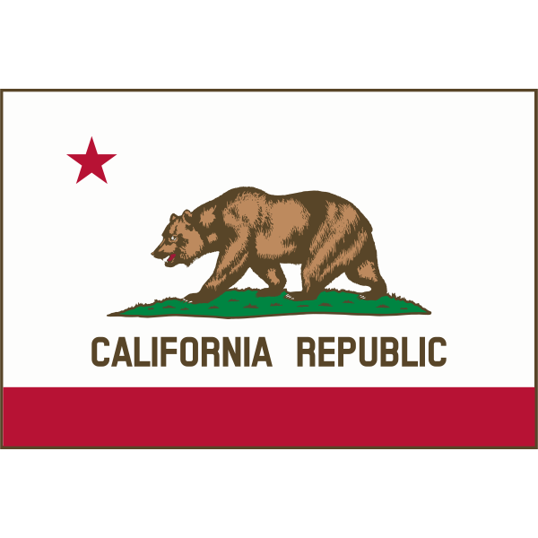 Californian Republic flag vector image