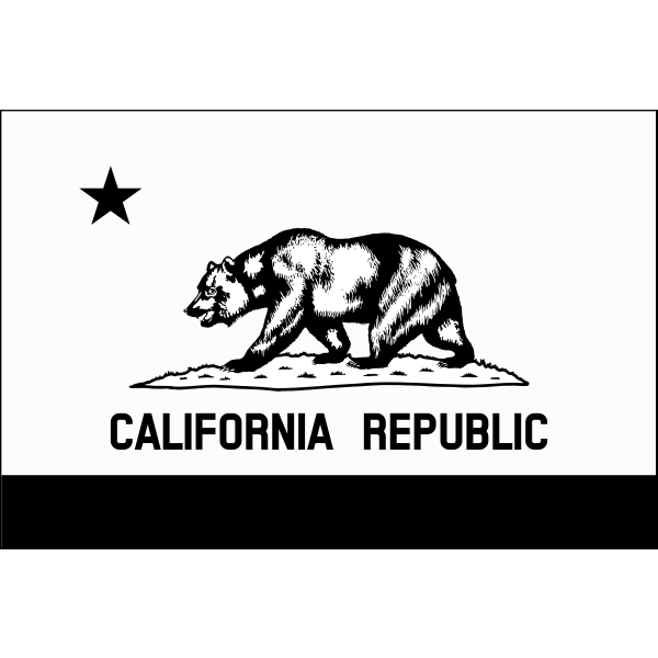 Monochrome flag of California Republic vector image