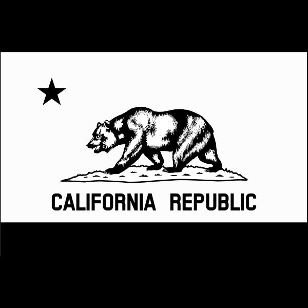 Monochrome flag of California Republic vector image