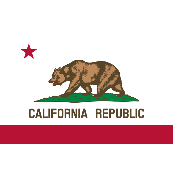 Flag of California Republic vector image