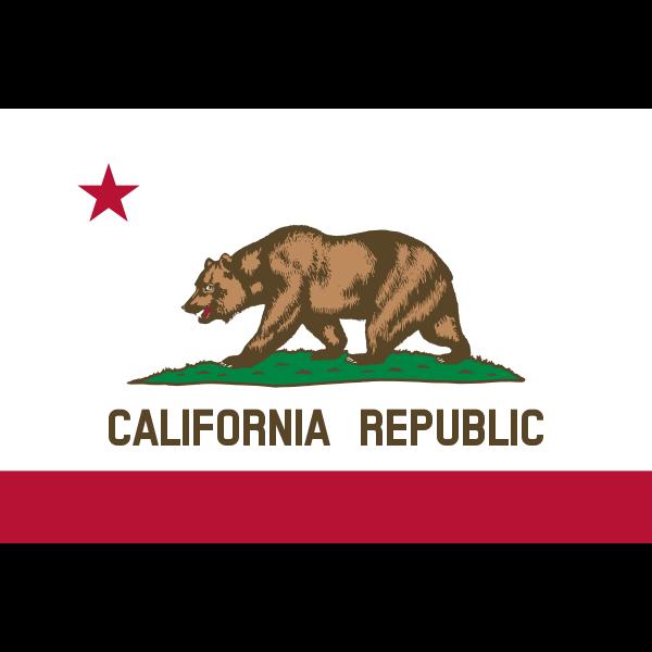 Flag of California Republic vector image