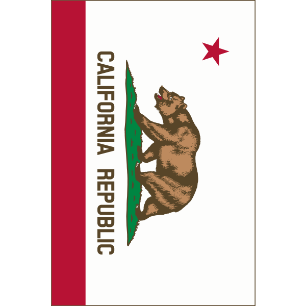 Flag of California Republic vertical vector image