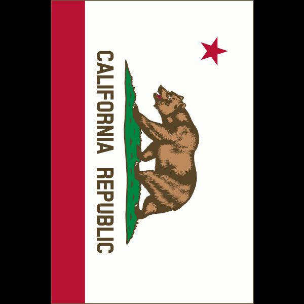 Flag of California Republic vertical vector image