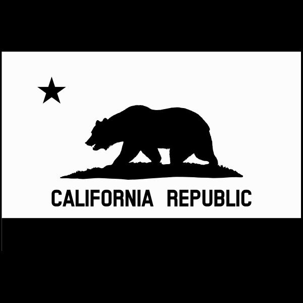 Grayscale flag of California Republic vector image