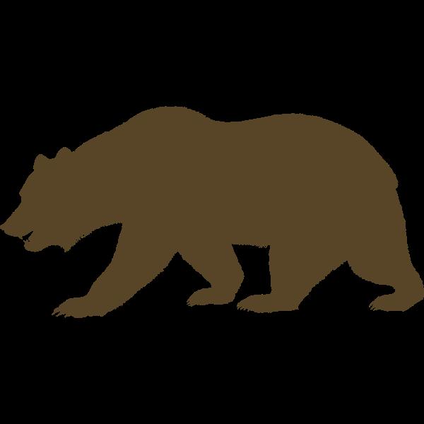 Vector clip art of bear from the Flag of California