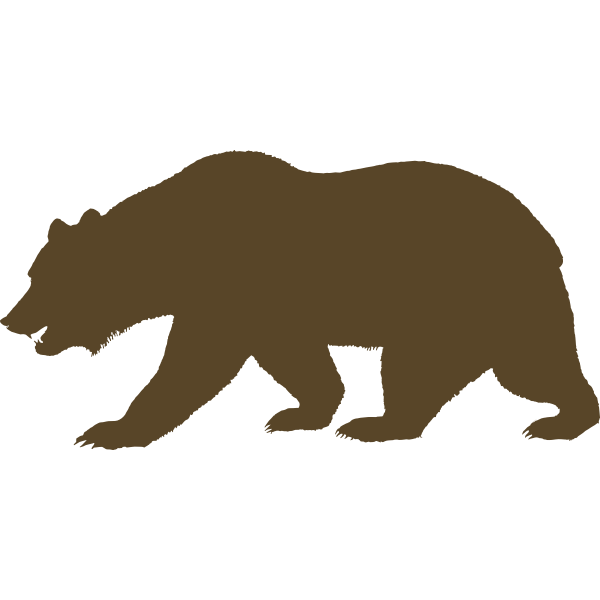 Vector clip art of bear from the Flag of California