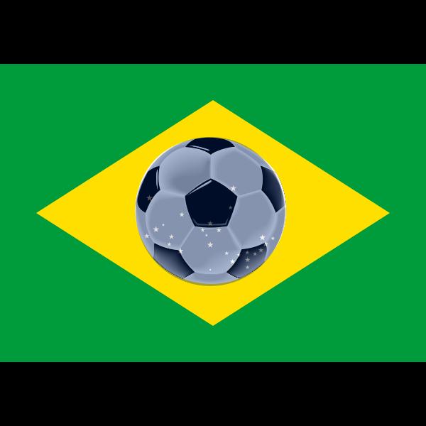 Brasil flag of football vector image