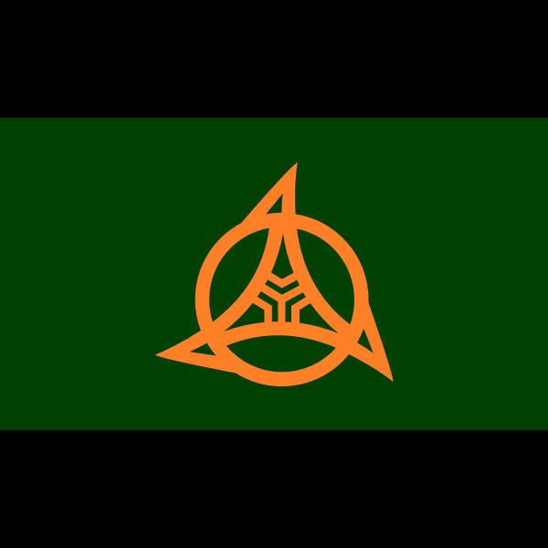 Flag of former Itoigawa, Niigata
