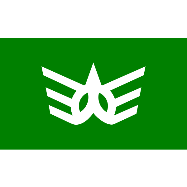 Official flag of Kawauchi vector clip art