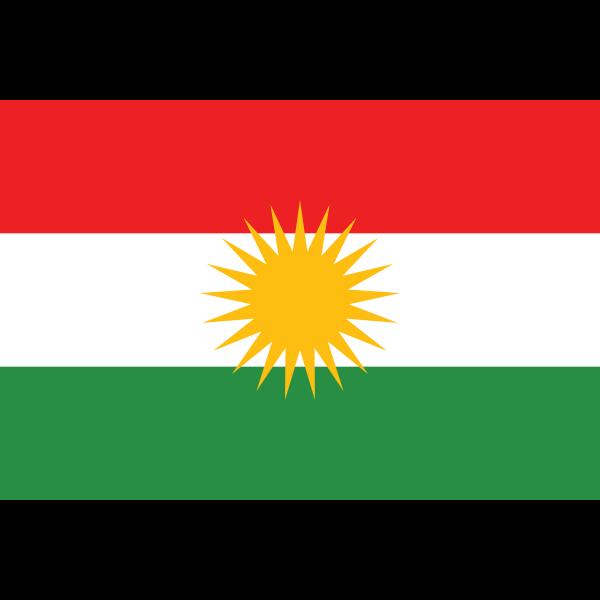 Flag of Kurdistan vector