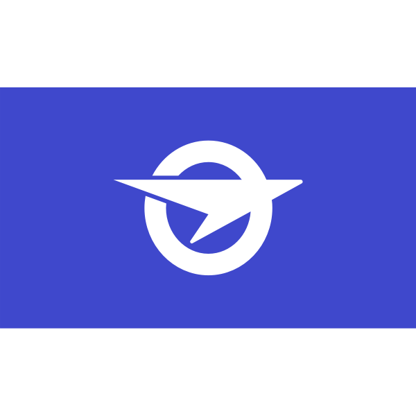 Official flag of Ohata vector clip art