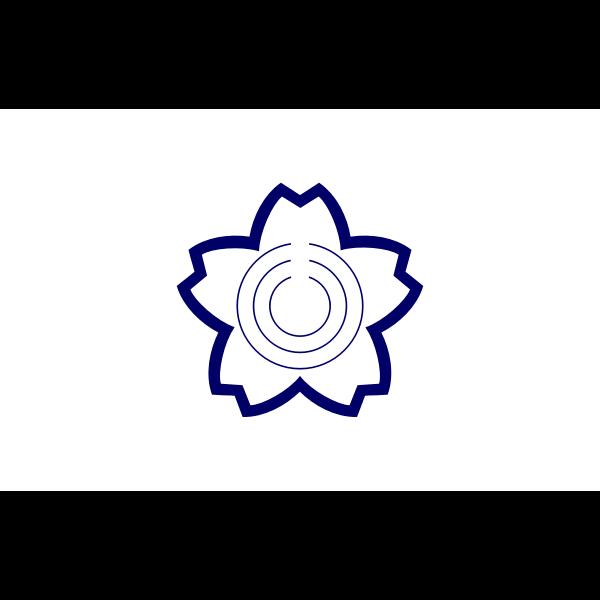 Vector image of blue seal of Sakuragawa