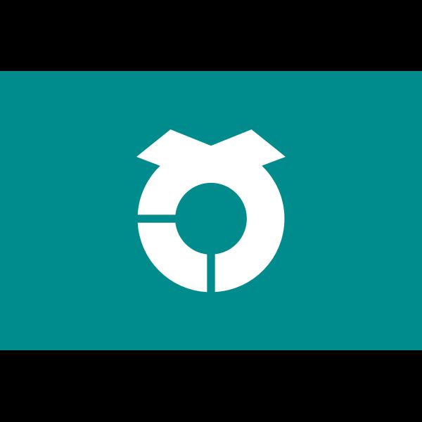 Official flag of Sashima vector drawing