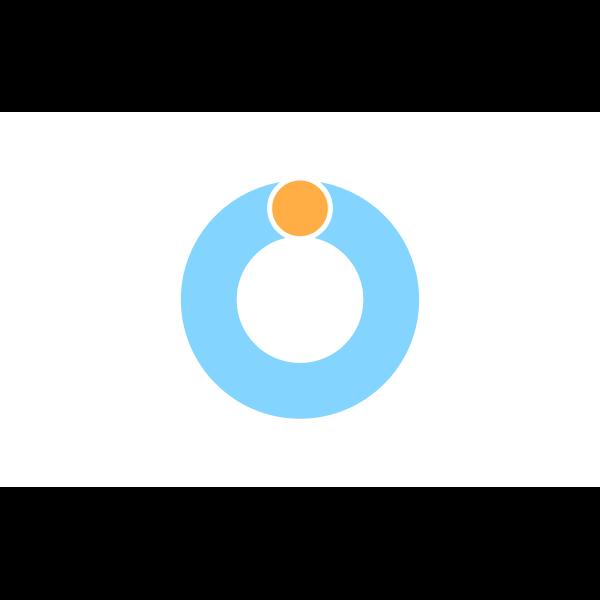 Flag of Wadomari, Kagoshima