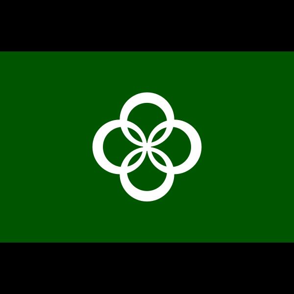 Vector flag of Wazuka, Kyoto