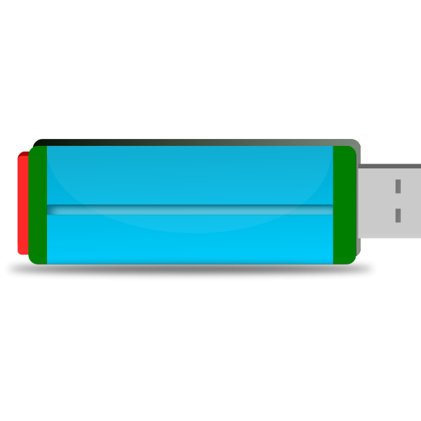 Colorful flash drive vector clip art