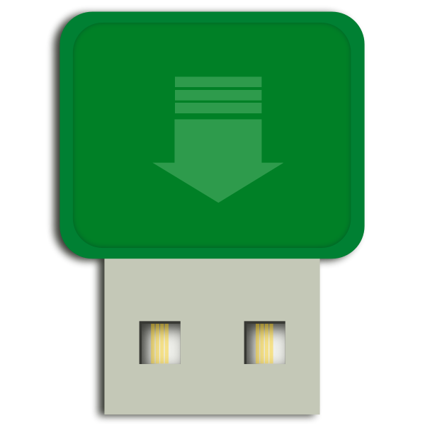 Green mini flash drive vector image