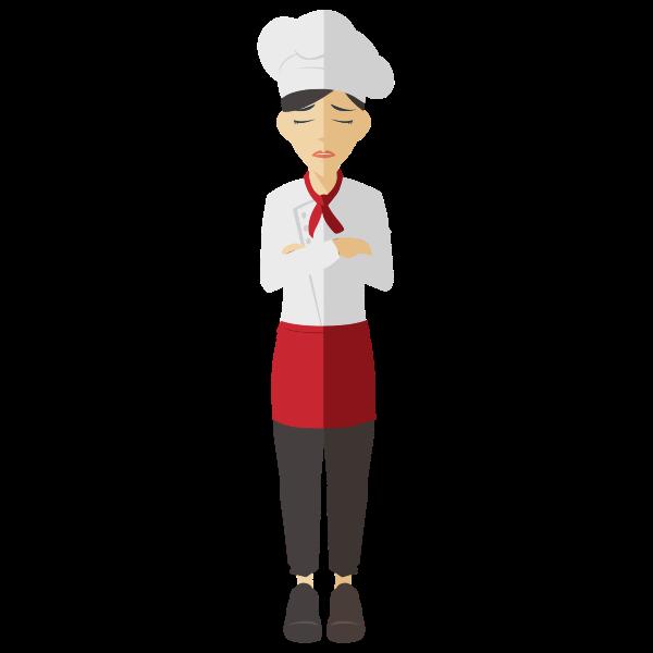 Mad female chef