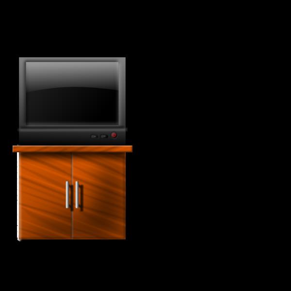 Flat TV vector illustration