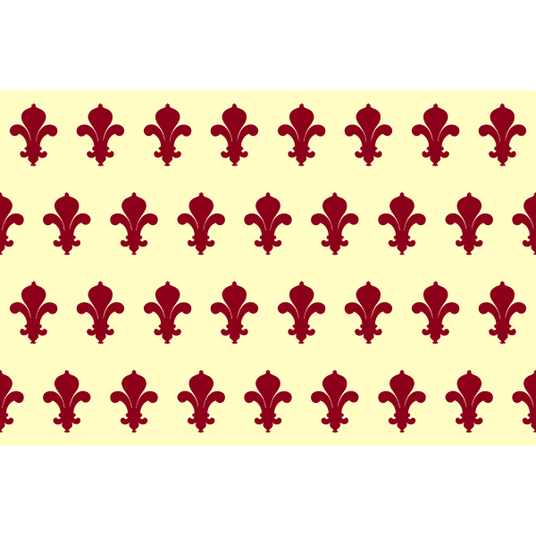 Drawing of seamless pattern of red fleurs de lys