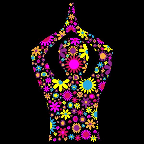 Floral female yoga