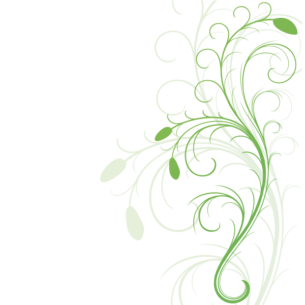 Vector graphics of swirling floral design element