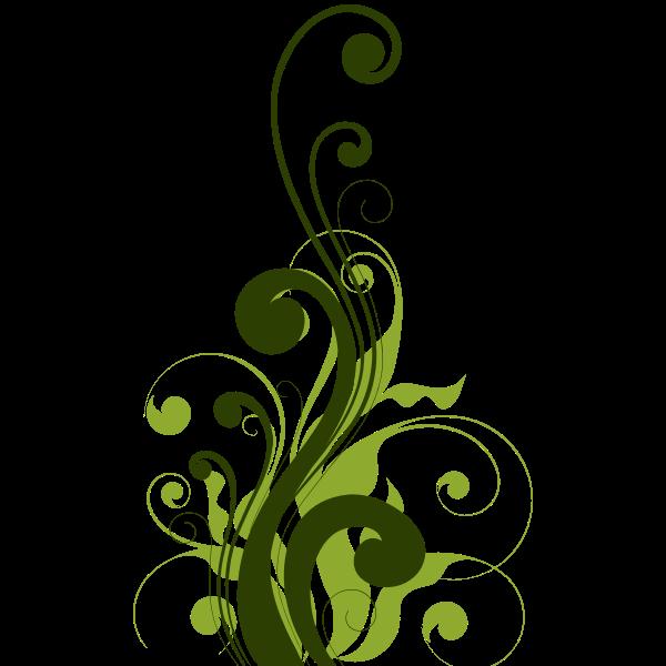 Floral decoration pattern
