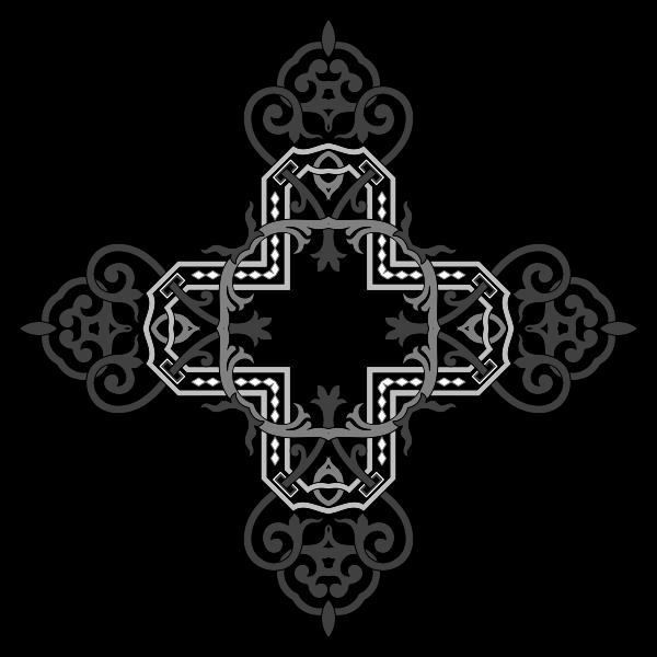 Floral Flourish Cross 3