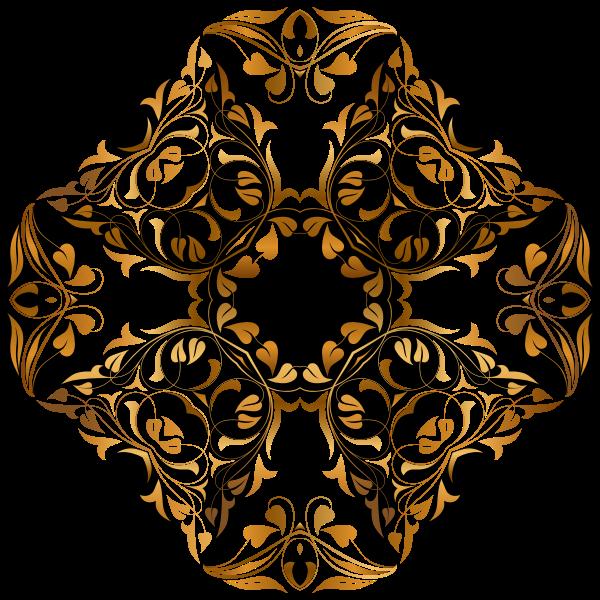 Floral gold design