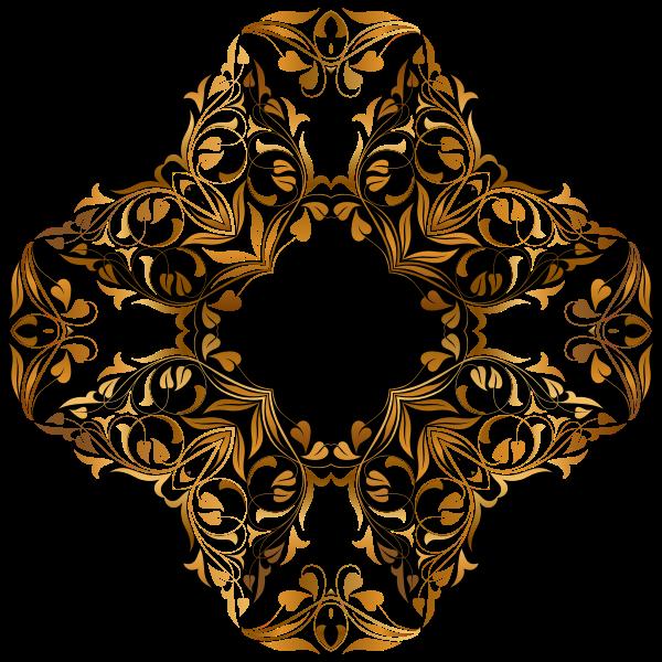 Golden floral cross
